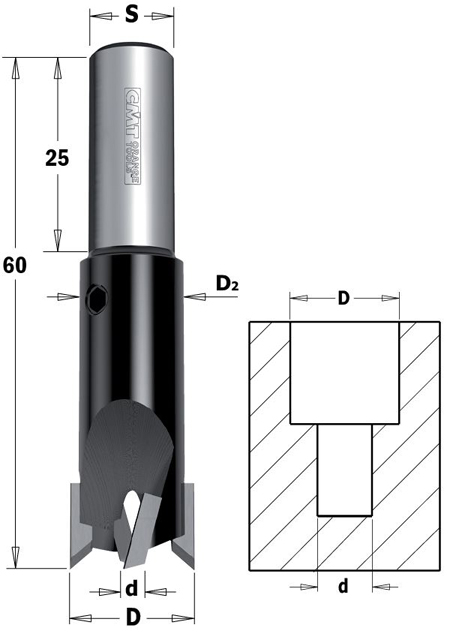 cmt hw senker mit zylinderschaft 6 14x10mm 90 z2 rechts 1 vpe 1 stck schleifwerk. Black Bedroom Furniture Sets. Home Design Ideas