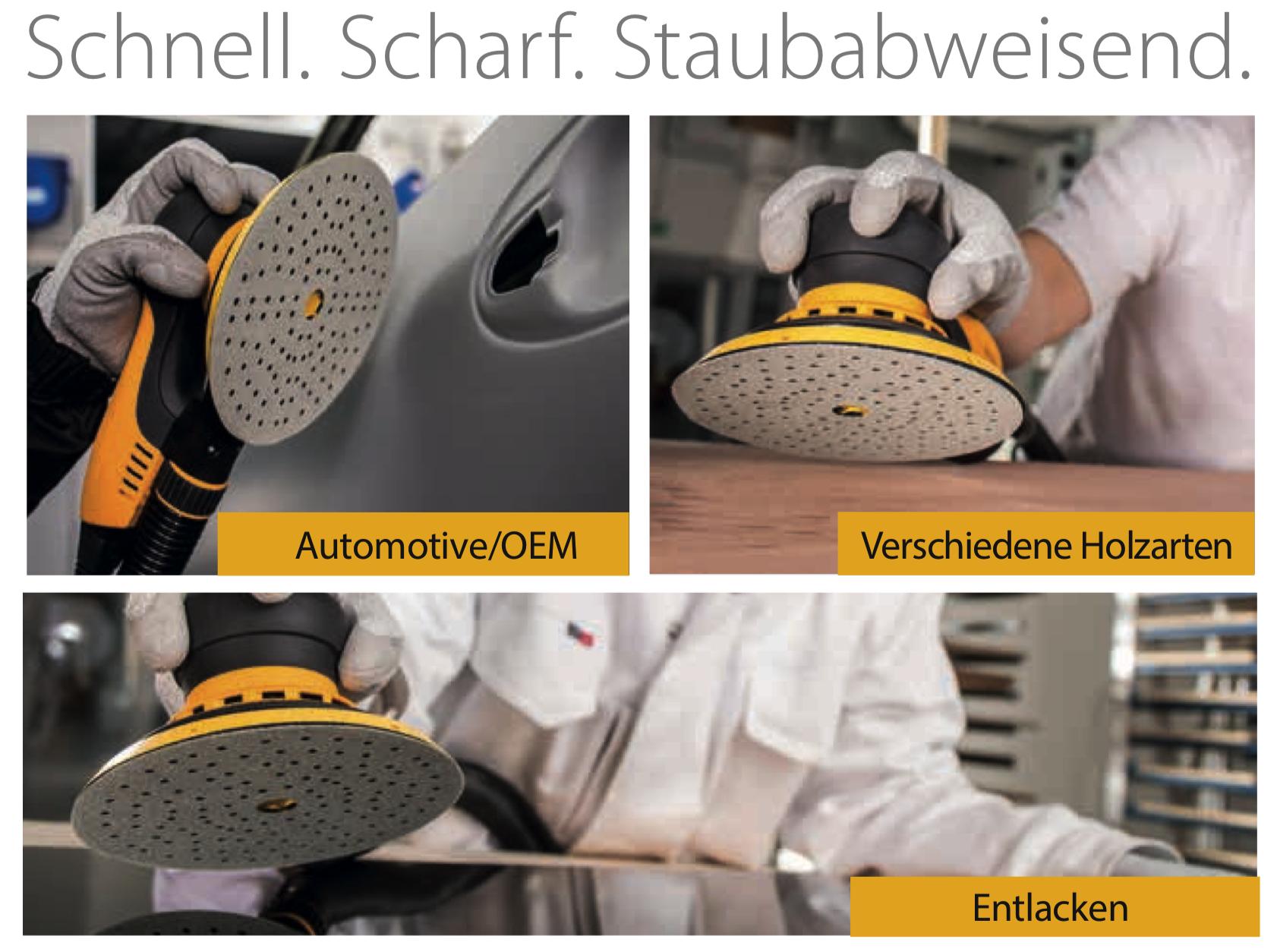 schnell-scharf-staubabweisend NEU Mirka Iridium Schleifstreifen 81x133 mm 54 Lo