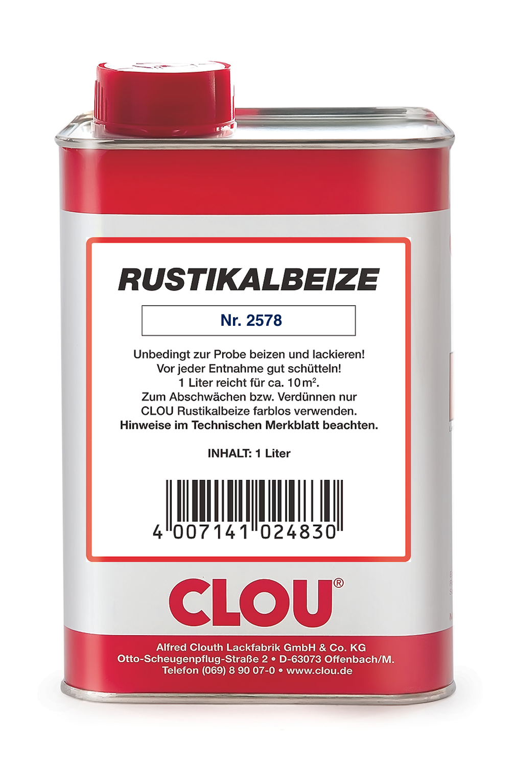 clou rustikalbeize, farbnummer 2578, 1,0 l   schleifwerk